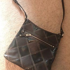 Tignanello brown leather adjustable crossbody